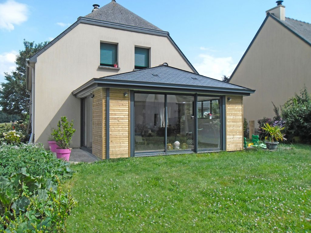 extension de maison bois alu